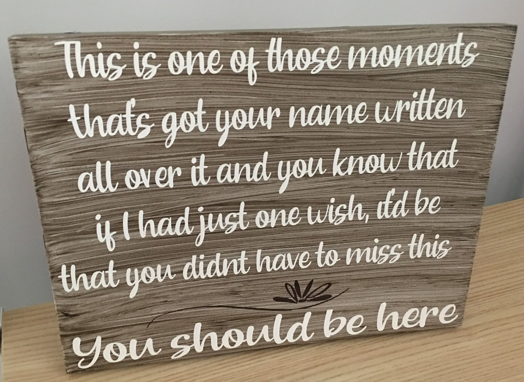 Wood Art Wall and Table Signs