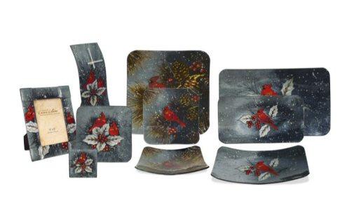 24 Piece Christmas Cardinal Glassware Assortment