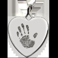 Baby Handprint Heart Jewelry