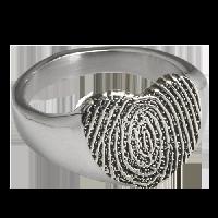 Bold Fingerprint Ring
