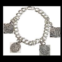 Baby Fingerprint Petite Oval Charm Bracelet-1 to 4 Charms
