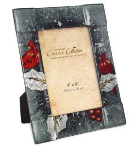"Christmas Cardinal 9"" Photo Frame"