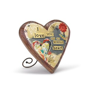 Love Wood Carved Heart