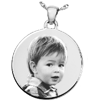 Round Photo Necklace
