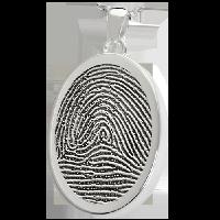 Oval Fingerprint Jewelry