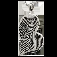 Teardrop Heart Fingerprint Jewelry