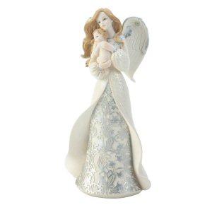 Angel Cradling Baby Figurine