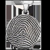Round Fingerprint Jewelry