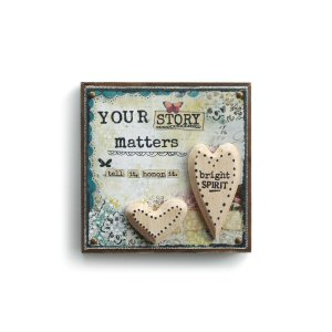 Your Story Matters Heart Wall Art